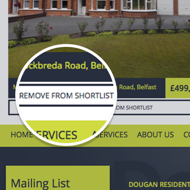 Removing properties from your shortlist